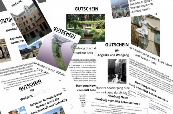 Gestalte Gutscheine von Hamburg News Stadtführungen